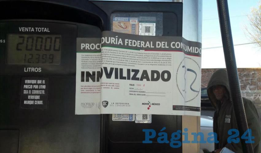 Detectan en Aguascalientes gasolineras que dan litros de más