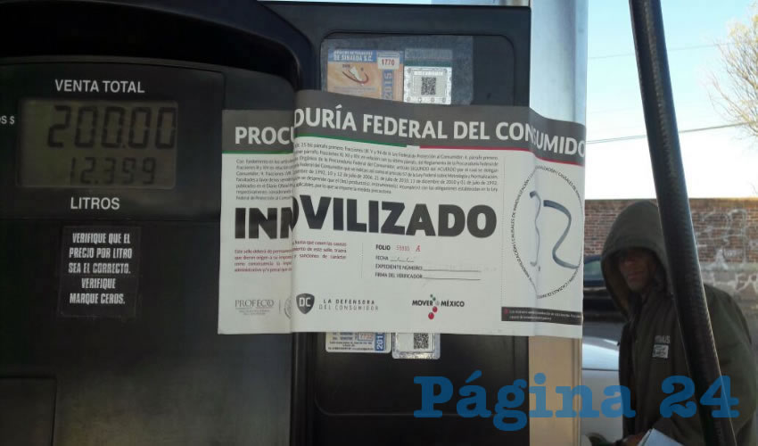 Profeco Inmoviliza 17 Bombas de Gasolina en Aguascalientes