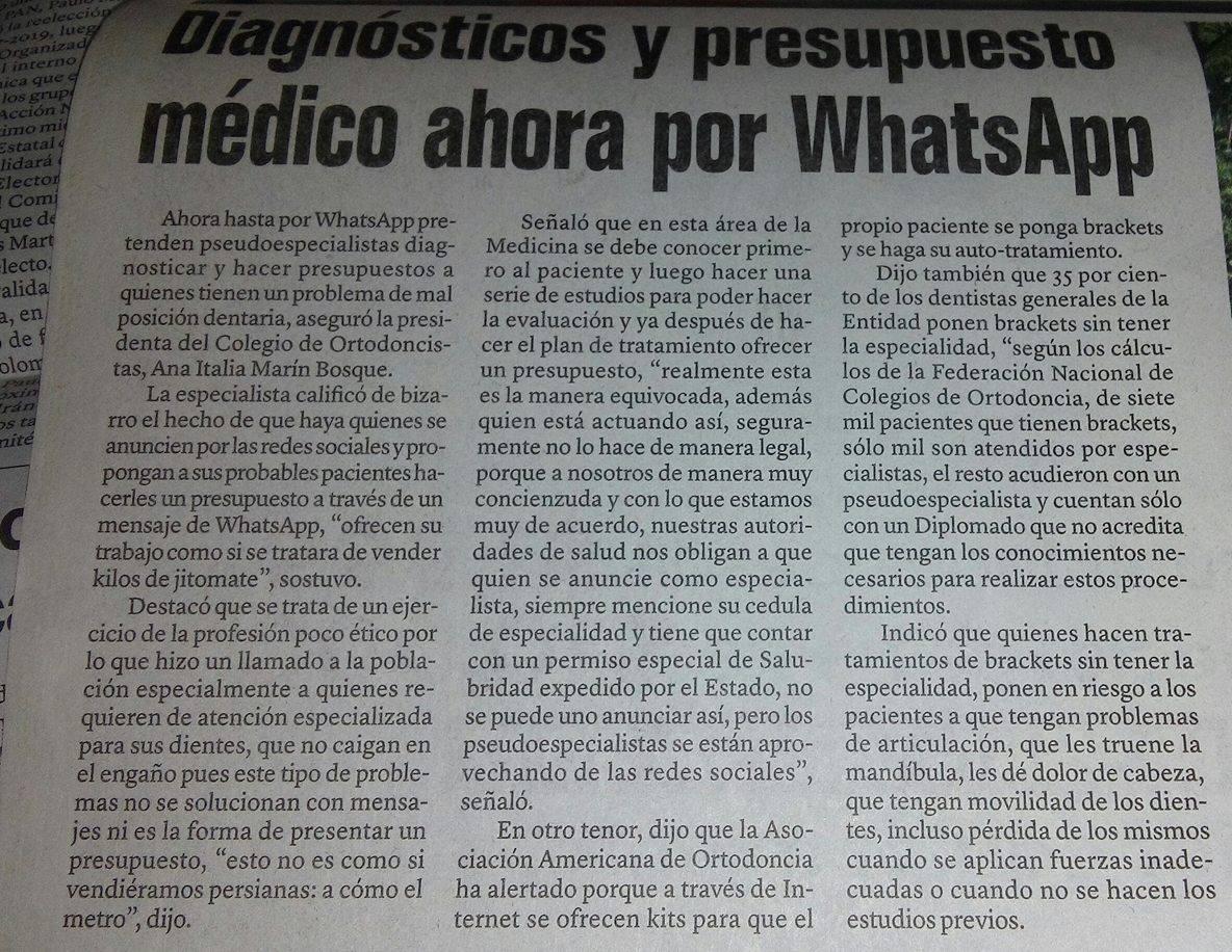 Diagnósticos y presupuesto médico ahora por WhatsApp