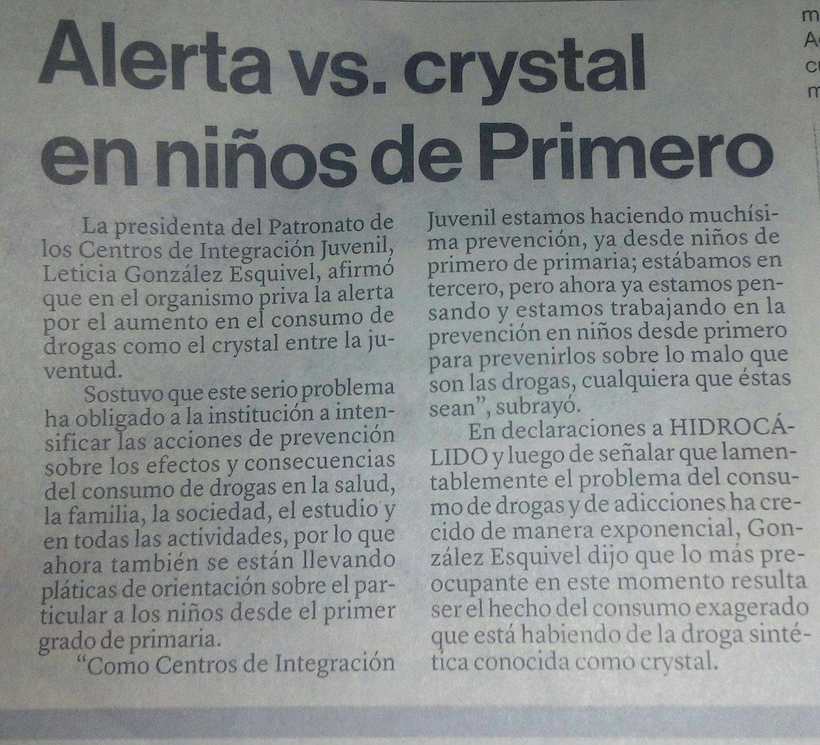 Alerta vs. crystal en niños de primero