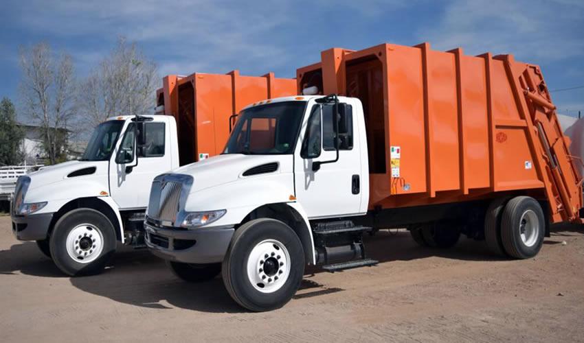 Arriban a Aguascalientes los Primeros 3 de 7 Nuevos Camiones Compactadores de Basura