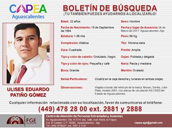 FGE localizó a Ulises Patiño en Guanajuato