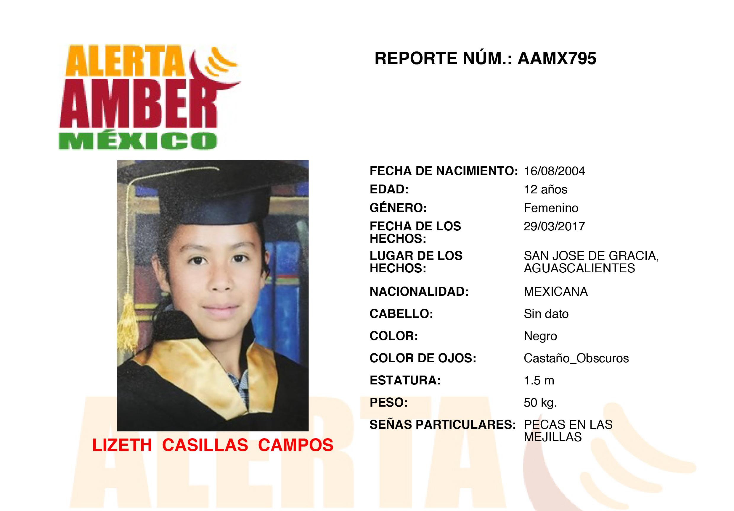 Alerta Amber en Aguascalientes