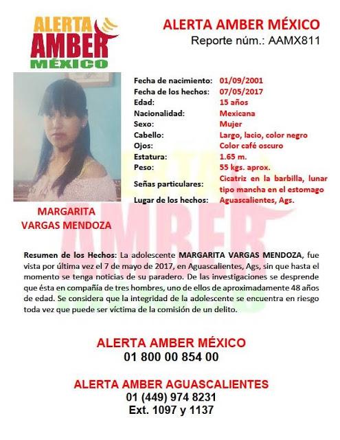 Activan #AlertaAmber por joven desaparecida en Aguascalientes