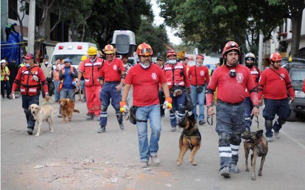 Binomio canino de Aguascalientes logra rescate de tres personas