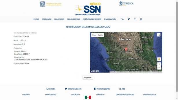 En dos años se han registrado seis sismos en Aguascalientes