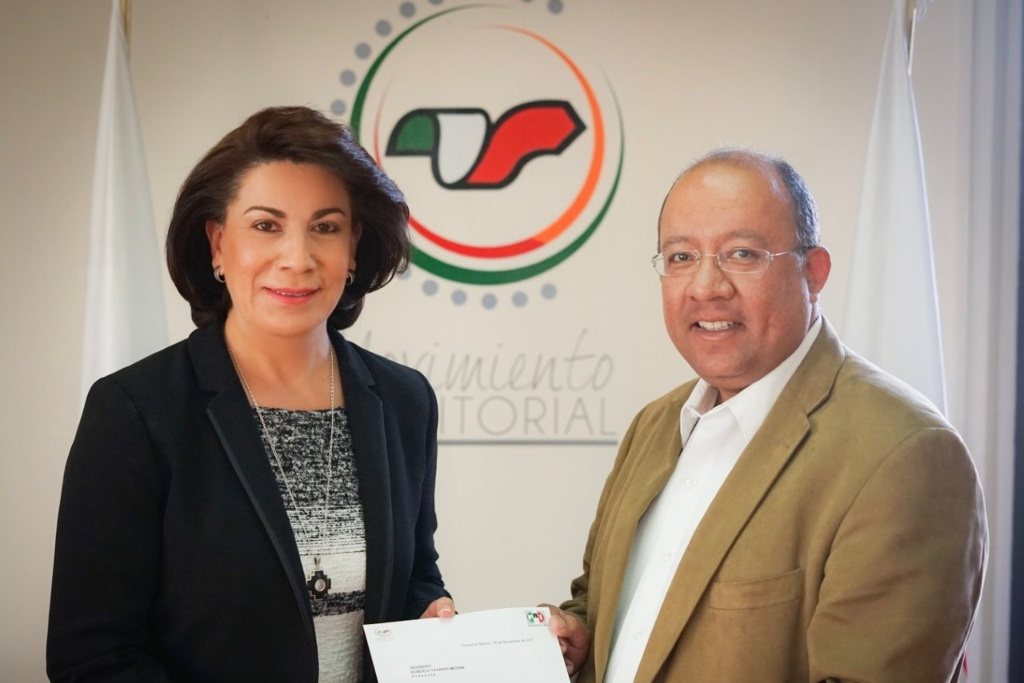Designa Lorena Martinez Roberto Tavarez como nuevo lider del MT priista en Aguascalientes