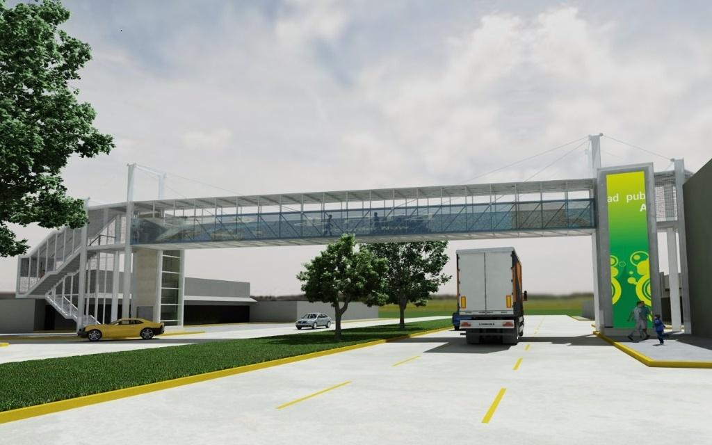 En 2 meses estará operando el primer puente peatonal con elevador